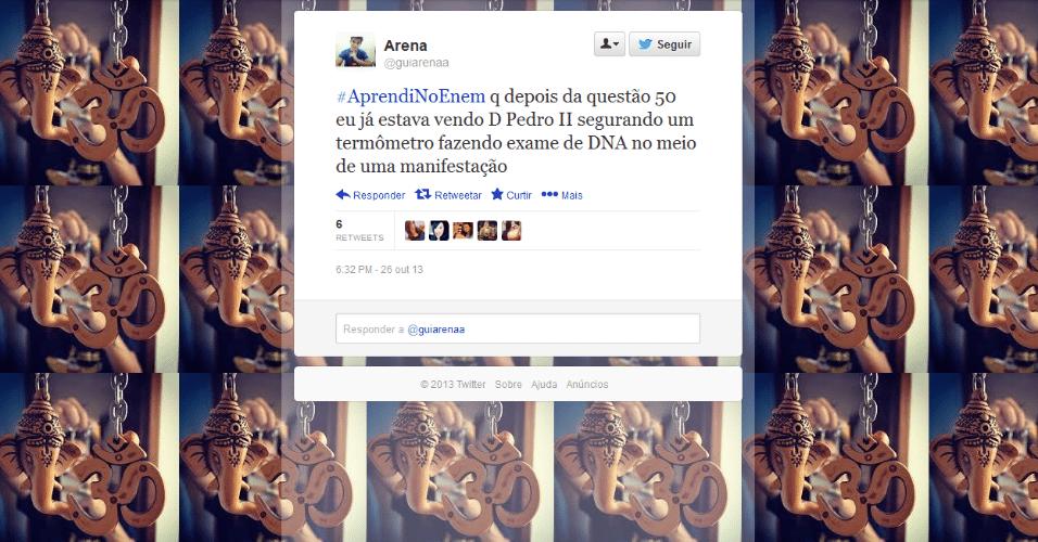 Nas redes sociais, candidatos brincam com questões da prova do Enem 2013, aplicada nos dias 26 e 27 de outubro em todo o país
