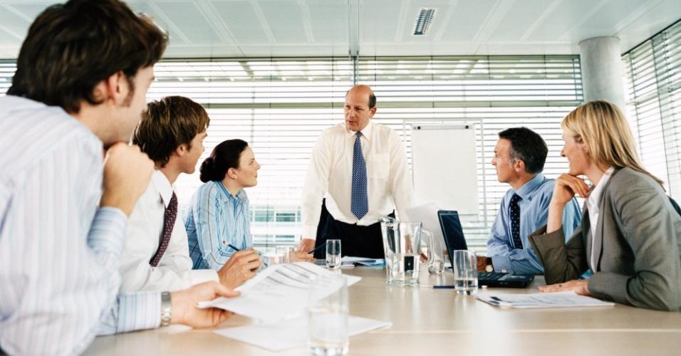 Executivo, reunião, negócios