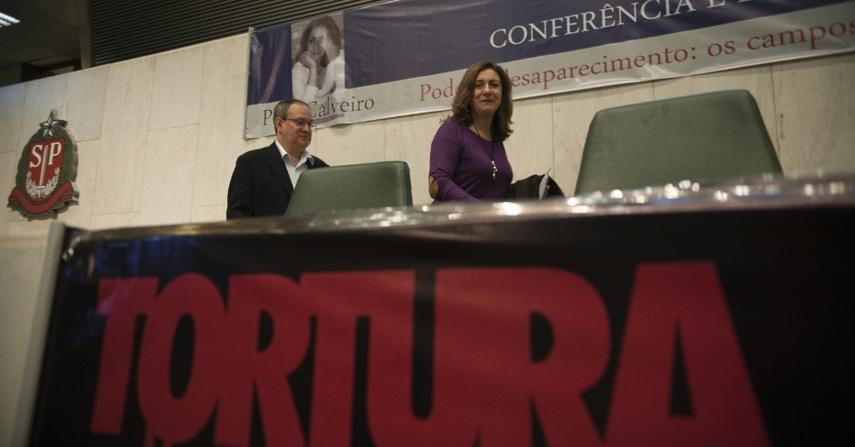 30.out.2013 - Comissão da Verdade do Estado de São Paulo recebe a antropóloga argentina Pilar Calveiro para discutir o desaparecimento forçado como política de Estado