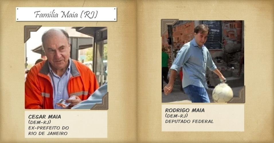 1º.nov.2013 - O ex-prefeito do Rio de Janeiro Cesar Maia (DEM-RJ) é primo do senador José Agripino Maia, e vem de uma família influente na política do Rio Grande do Norte. O seu filho, Rodrigo Maia (DEM-RJ), também envereda pelo mesmo caminho: cumpre mandato de deputado federal
