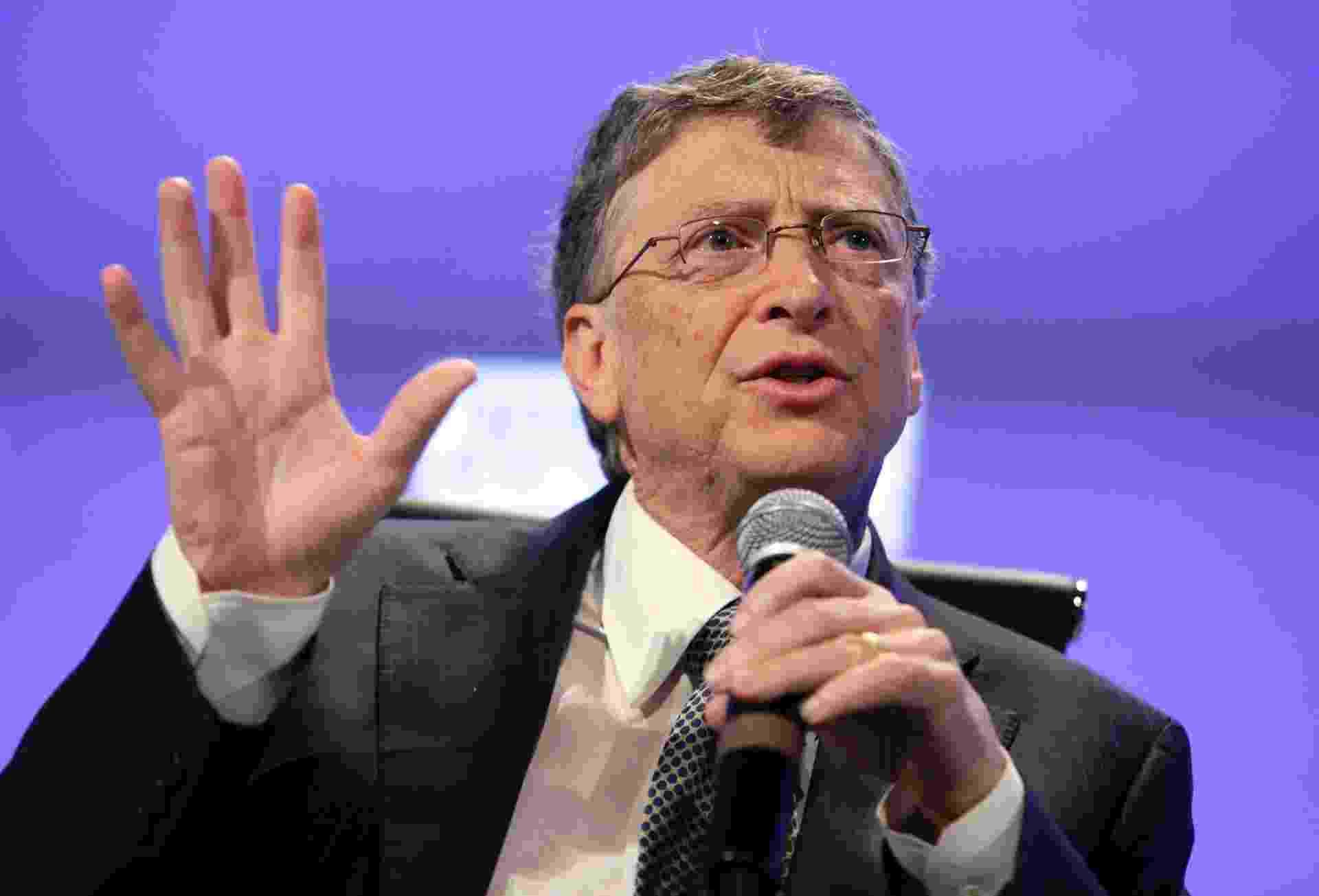 5.mai.2013 - Bill Gates, cofundador da Microsoft, fala durante conferência em Washington (EUA) - Yuri Gripas/Reuters