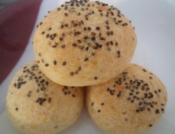 Pão de queijo com semente de chia, produzido pela empresa Pães de Queijo Congelados, de Uberlândia (MG)