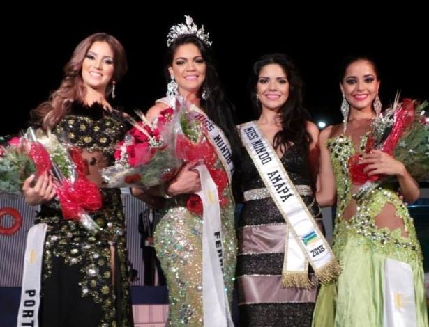 Da esquerda para a direita: Miss Porto Grande, que vai representar a Ilha de Santana no Miss Mundo Brasil 2014; Miss Mundo Amapá 2014; Miss Mundo Amapá 2013 e a Miss Oiapoque, que vai representar a Ilha de Macará no concurso do próximo ano - Divulgação/Miss Mundo Brasil