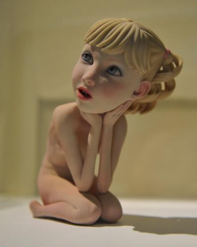 """Festival de arte digital em Taipei (China) exibe boneca impressa em impressora 3D. A peça é chamada ''pequena princesa"""""""