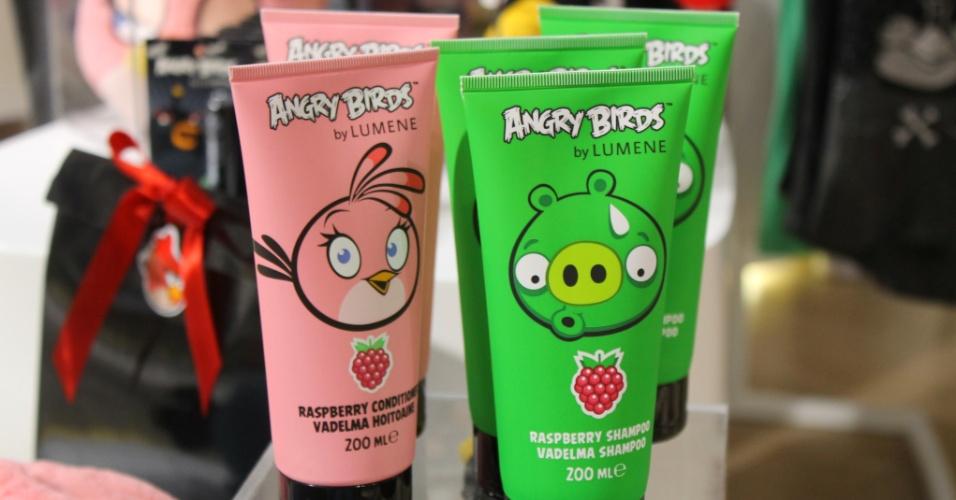 Há até shampoo temático do ''Angry Birds''. Em loja na sede da Rovio, a unidade custa 5,90 euros (cerca de R$ 18,50)