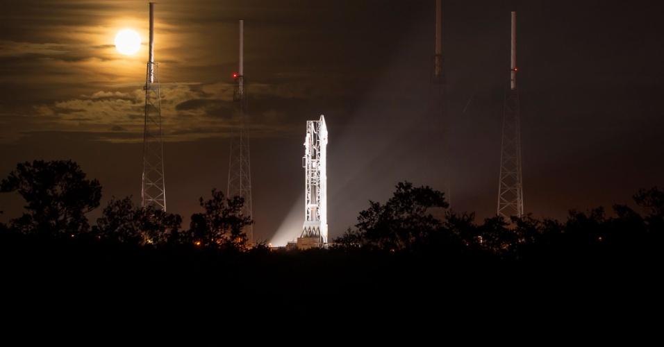 18.nov.2013 - A sonda Mars Atmosphere and Volatile EvolutioN (Maven), da Nasa, prestes a ser lançada do Cabo Canaveral, Flórida. A sonda irá para Marte com o objetivo de averiguar por que o planeta vermelho perdeu boa parte de sua atmosfera