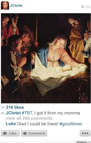 O site Histagram mostra como momentos históricos seriam registrados no Instagram (daí o nome, que associa a palavra 'história' à rede social de fotos). Na imagem acima,