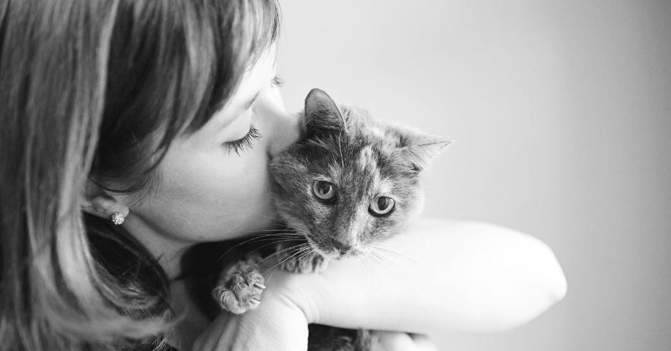 21.nov.2013 - Fotógrafa americana registra últimos momentos de animais de estimação com seus donos