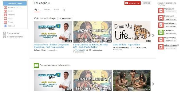 Plataforma Youtube Edu já tem 8.000 vídeos de aulas