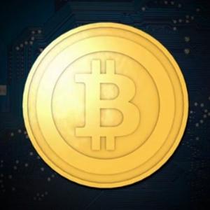 Símbolo do bitcoin; códigos da moeda virtual foram criados em 2009 por Satoshi Nakamoto