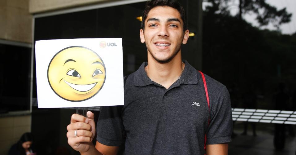 Gabriel da Costa saiu da prova da primeira fase da Fuvest 2014 confiante do seu desempenho na prova
