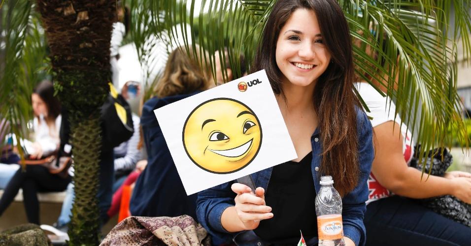 Juliana Lemos estava confiante antes da prova da primeira fase da Fuvest, aplicada para 172 mil candidatos neste domingo