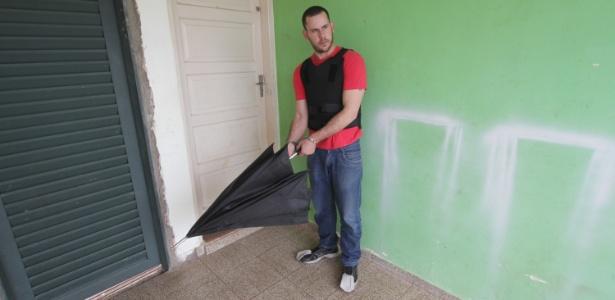 Guilherme Longo, padrasto do menino Joaquim Marques Pontes, durante a reconstituição do desaparecimento, realizada em Ribeirão Preto (SP) em 2013