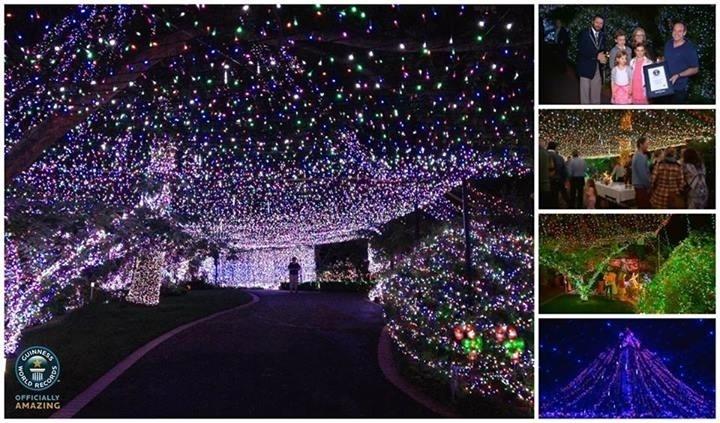 25.nov.2013 - O casal australiano David e Janean Richards quebrou o recorde do maior número de luzes de Natal já colocadas em uma casa. Foram colocadas 502.165 lâmpadas. Eles colocaram a casa em exposição e o dinheiro arrecadado é destinado a uma instituição de caridade
