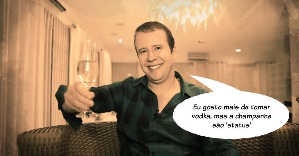 """6.nov.2013 - """"Eu gosto mais de tomar vodka, mas a champanhe 'são status'"""", disse Alexander de Almeida, o """"Rei do Camarote"""", ao listar dez coisas para ser bem-sucedido na noite da alta sociedade paulistana"""