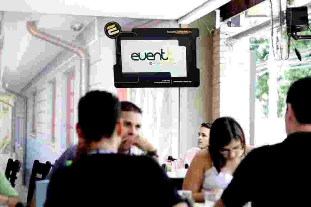 Franquia Eventt exibição de campanhas publicitárias em televisores em estabelecimentos comerciais - Divulgação