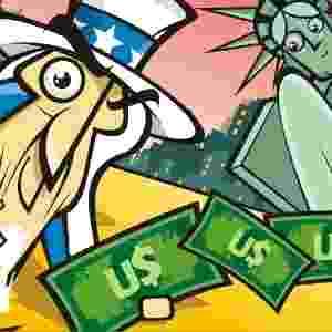 DÓLARES NA CARTEIRA - Também se acredita que guardar uma nota de dólar, de qualquer valor, no menor compartimento da carteira, ajuda a atrair mais dinheiro - Stefan/Arte UOL