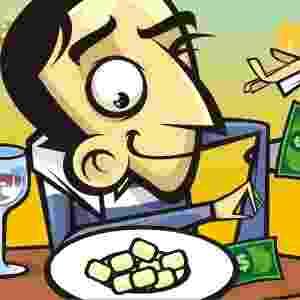 GRANA EMBAIXO DO NHOQUE - A simpatia deve ser feita no dia 29 de cada mês; para dar sorte, é melhor comer os sete primeiros nhoques em pé; ao sentar, põe-se o prato de comida em cima de uma nota de dinheiro (que não pode ser sua) - Stefan/Arte UOL
