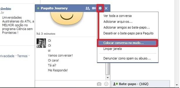 Saiba como silenciar uma conversa em bate-papo do Facebook
