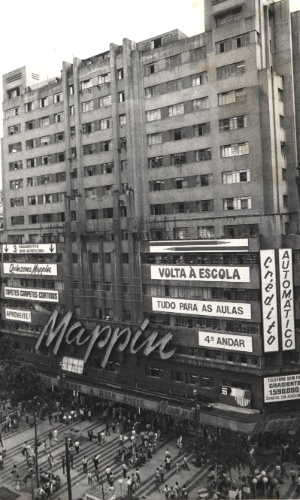 Loja do Mappin (Casa Anglo Brasileira S.A.), na praça Ramos. (São Paulo, 07.10.1988)
