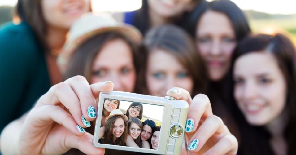 grupo amigas fotografia selfie