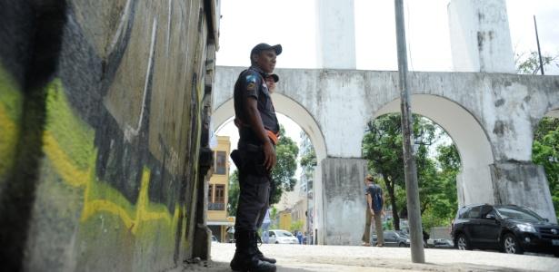 A Polícia Militar reforçou a segurança das ruas da Lapa e no Saara, região central do Rio, no início do mês