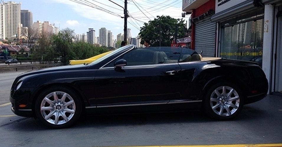 Bentley Continental GTC da locadora de carros de luxo T2A Clube, em São Paulo (SP)