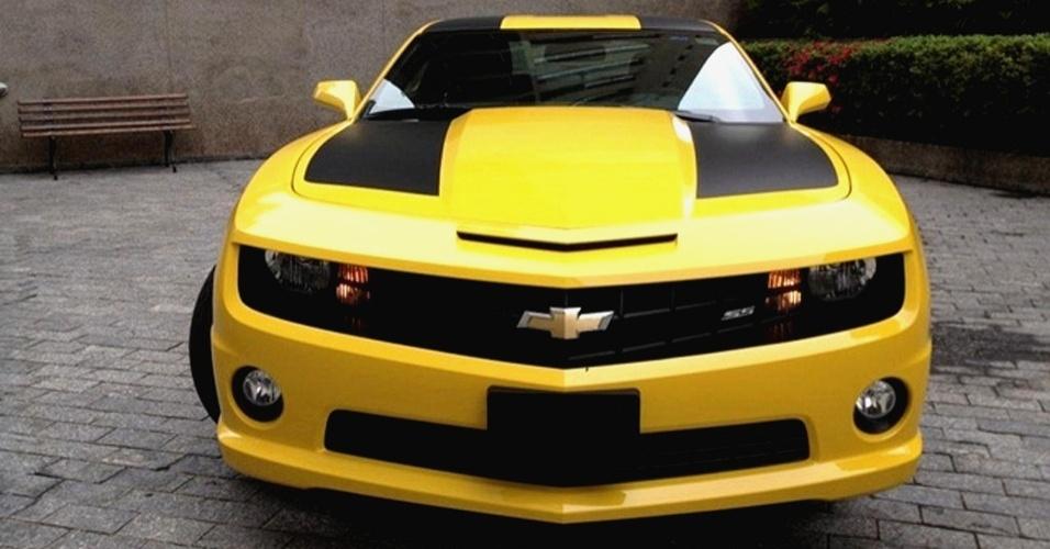 Camaro amarelo da locadora de carros de luxo T2A Clube, em São Paulo (SP)