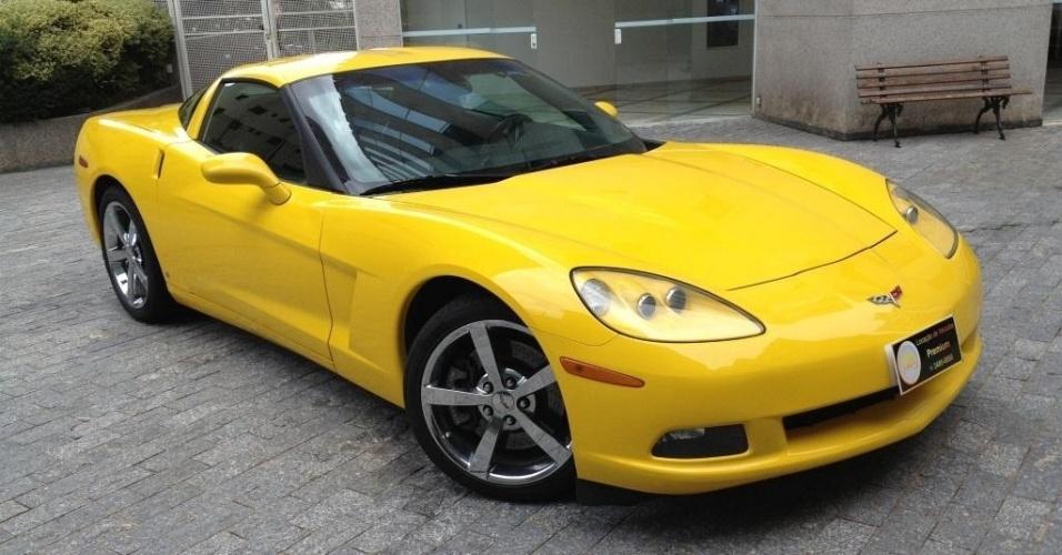 Corvette amarelo da locadora de carros de luxo T2A Clube, em São Paulo (SP)