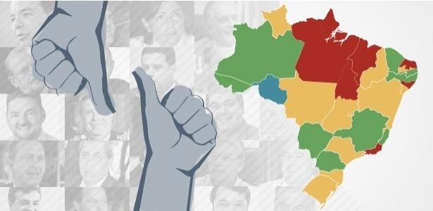 Pesquisa mostra avaliação de Dilma e 27 governadores - Arte/UOL