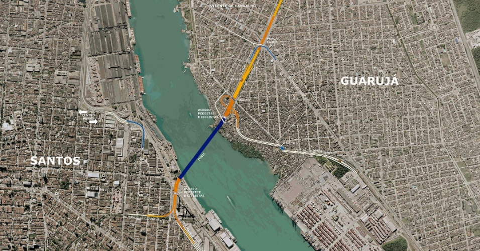 Resultado de imagem para ponte Santos e Guarujá