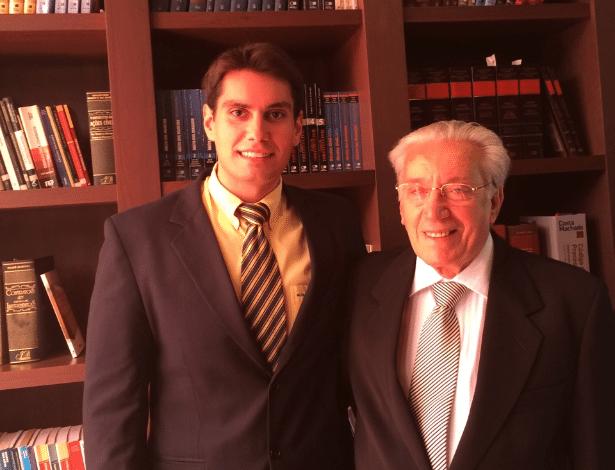 O avô Paulo Sassi, 76, e o neto Guilherme vão se formar juntos em direito pela Unisal - Arquivo Pessoal