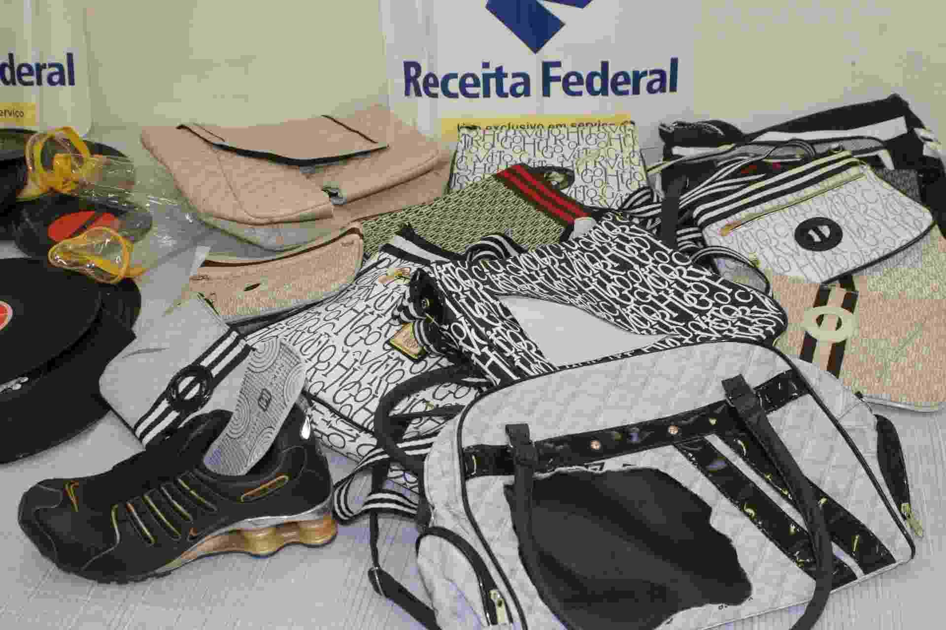 Produtos ilegais apreendidos pela Receita Federal do Rio Grande do Sul - Patrícia Silva Fagundes/Divulgação