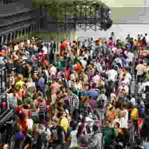 20.dez.2013 - Movimentação intensa de passageiros no Aeroporto de Guarulhos, na Grande São Paulo, na manhã desta sexta-feira (20) - Geovani Velasquez/Brazil Photo Press/Estadão Conteúdo