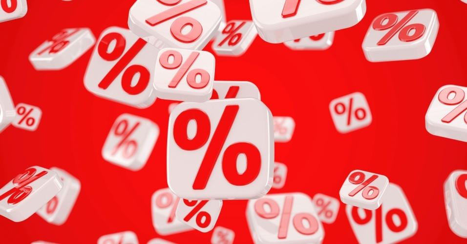 Desconto; liquidação; oferta; porcentual; percentual; por cento; per cento; juros