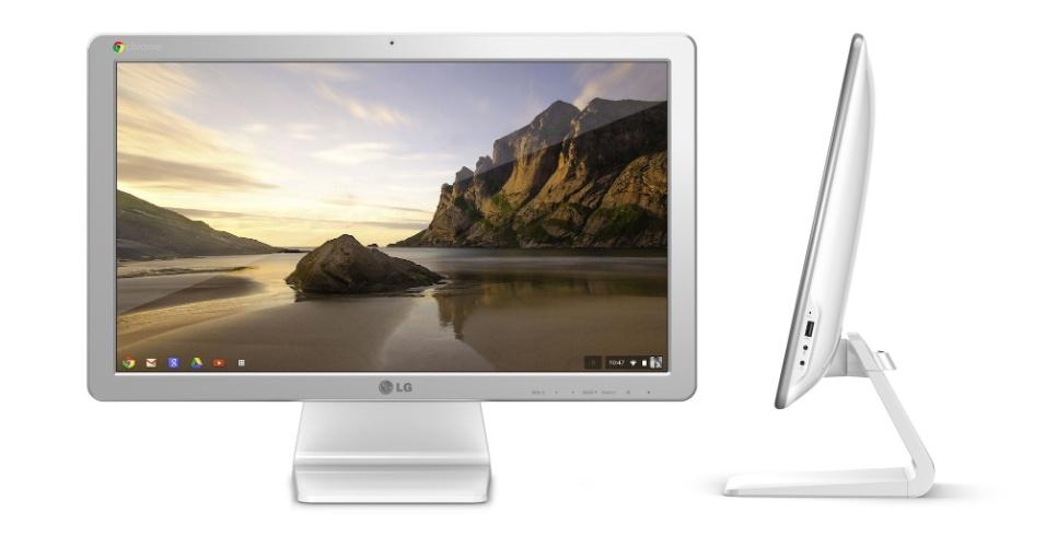 2.jan.2013 - A LG promete exibir durante a CES 2014, evento de tecnologia realizado em Las Vegas (EUA), O Chromebase, um computador All-in-one com o sistema operacional Chrome, do Google. O aparelho, que lembra bastante um iMac (da Apple), tem tela de 21,5 polegadas, 2 GB de memória RAM, processador Celeron, câmera frontal de 1,3 megapixel e 16 GB para armazenamento. Ele ainda contará com uma porta HDMI, uma porta USB 3.0,  três portas USB 2.0 e uma entrada para cabo de rede. A empresa sul-coreana ainda não divulgou preço nem quando o Chromebase estará disponível no varejo