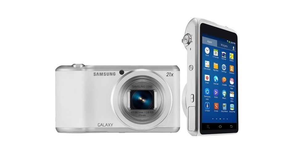 2.jan.2014 - A Samsung anunciou a segunda versão da Galaxy Camera. O aparelho, que roda Android 4.3 (Jelly Bean), traz sensor de 16,3 megapixels, zoom óptico de 21x e visor touch de 4,8 polegadas. A grande novidade é o processador da câmera, que passou a ser quad-core de 1,6 GHz. A segunda versão, no entanto, funciona apenas com Wi-Fi e não tem suporte mais a 3G
