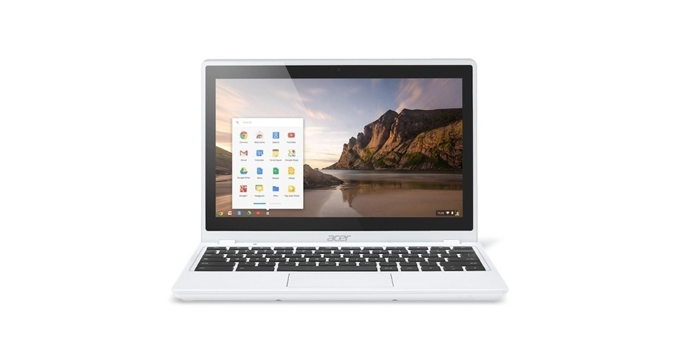 3.jan.2013 - A Acer lançou mais um Chromebook, laptop que usa o sistema Chrome OS, do Google. O Acer C720p-2600 vem com tela LED sensível ao toque de 11,6 polegadas com resolução HD (1.366 x 768 pixels) e pesa 1,35 kg. O processador é dual-core (MediaTek MT8111 Cortex A7) com 1 GB de RAM e 16 GB de memória interna (pode ser expandida para 32 GB com cartão micro-SD). Começa a ser vendido neste mês nos EUA por US$ 229,99 (R$ 713)