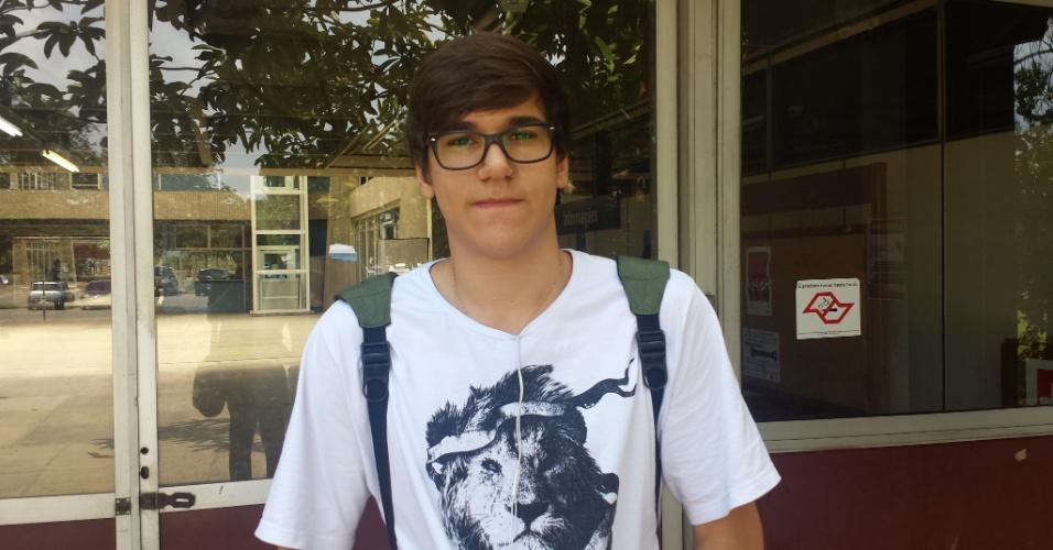 5.jan.2014 - João Pedro Pisa, 18, quer uma vaga em ciências sociais