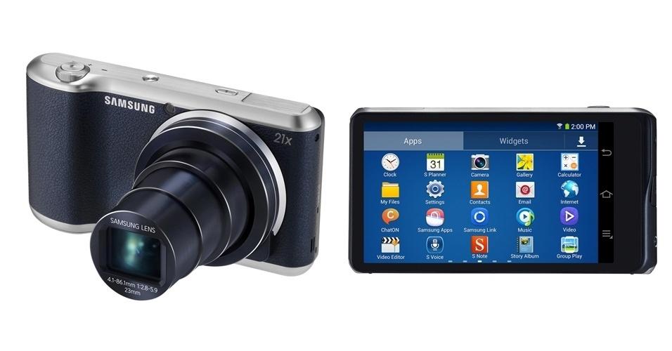 A Samsung anunciou a Galaxy Camera 2, segunda versão de sua câmera digital com acesso à internet. O produto mantém os 16,3 megapixels, tela sensível de 4,8 polegadas, zoom de 21x e plataforma Android Jelly Bean (que passou da versão 4.1 para a 4.3). O processador do novo modelo ficou mais potente (quad-core de 1,6 GHz, contra quad-core de 1,4 GHz), assim como sua bateria (foi de 1.650 mAh para 2.000 mAh). A nova câmera é um pouco mais leve (283 gramas ante 300 gramas) e tem tecnologia NFC (Near Field Communication; permite troca de dados com aproximação de dois dispositivos compatíveis). Preço e data de lançamento não foram divulgados