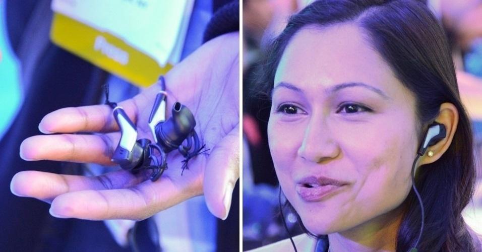 O fone de ouvido Smart Earbuds, desenvolvido pela Intel, possui sensores que capturam o ritmo do coração do usuário e outras informações. Com esses dados, um aplicativo instalado no smartphone define qual é a melhor música para o momento - animar ou não o usuário durante exercícios físicos, por exemplo. Segundo o site 'Engadget', não há previsão de preço ou lançamento