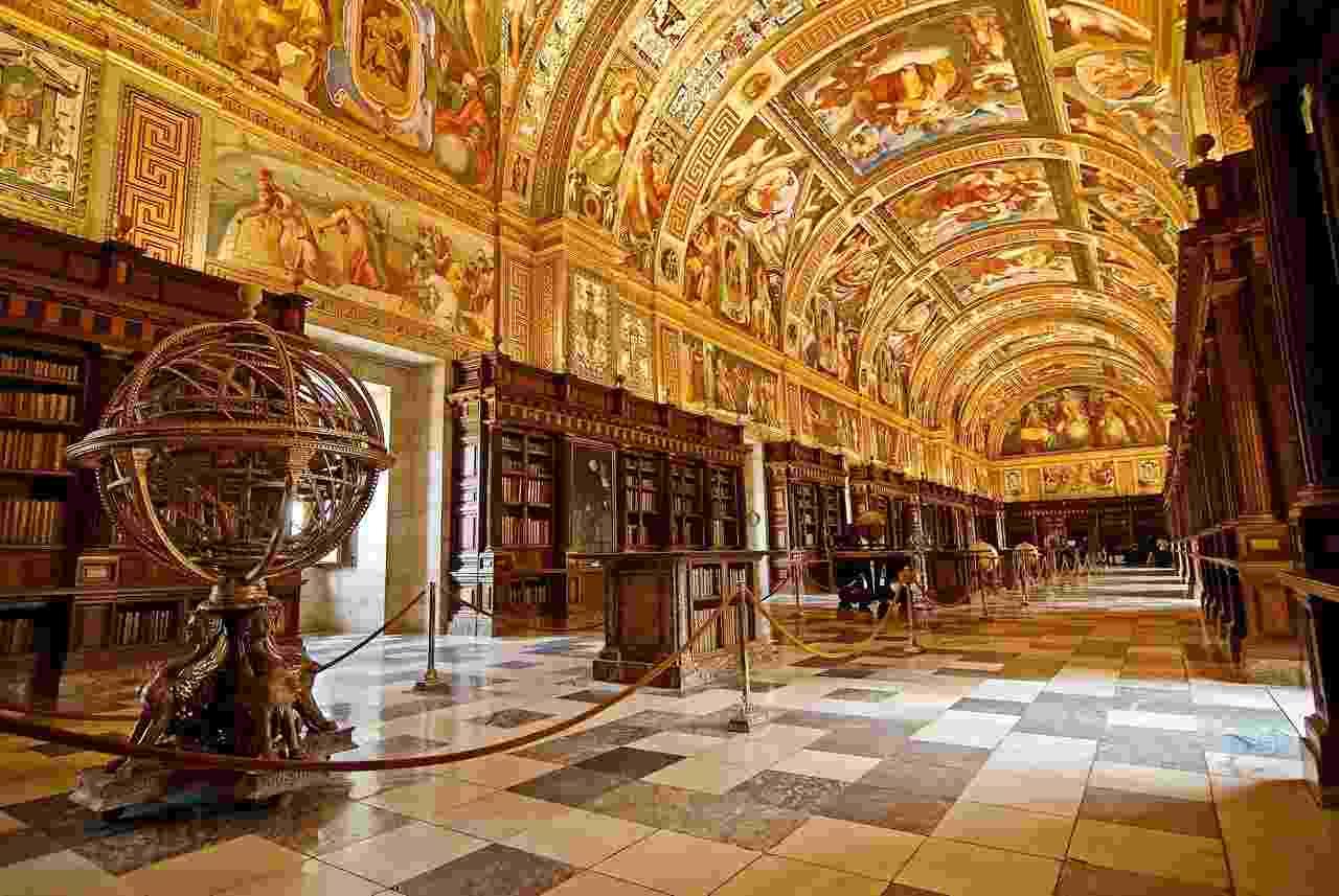 Biblioteca do Real Monastério de San Lorenzo de El Escorial (Espanha) - Jose Maria Cuellar/Flickr