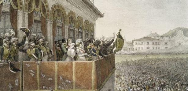 Dia do fico, D. Pedro 1º, Aclamação de Dom Pedro I, Imperador do Brasil, no Campo de Sant'Ana, Rio de Janeiro.
