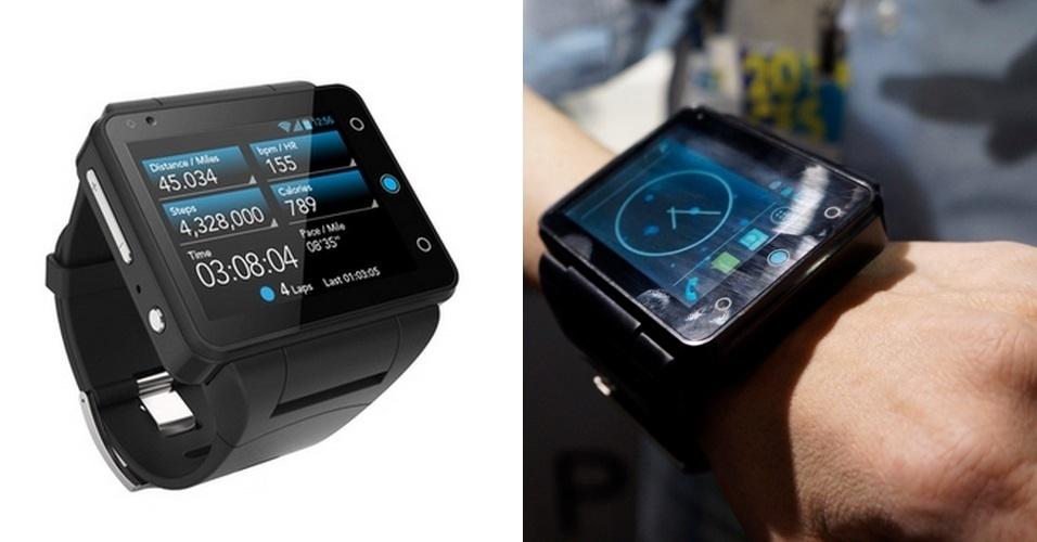 O Neptune Pine não é apenas um smartwatch. Ele é um 'smartwatchão'. Isso porque o aparelho tem uma tela de 2,4 polegadas (o da Samsung, por exemplo, tem 1,63''). Fora o tamanho avantajado, ele possui Wi-Fi, Bluetooth,  internet 2G/3G, câmera com flash e roda em Android 4.3. Não há previsão de lançamento ou preço definido