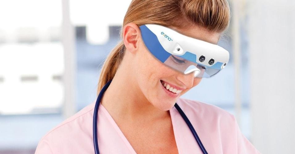 A Evena demonstrou na CES 2014 o funcionamento do Eyes-On, óculos que facilitam a visualização das veias de pacientes para aplicação de injeções e cateteres. Segundo o ''The Verge'', o aparelho funciona pulsando quatro tipos diferentes de luz que são combinadas em uma única imagem, fazendo as veias se destacarem (ficam mais escuras) na visualização. O Eyes-On será vendido nos EUA a partir de abril por US$ 10 mil (R$ 23 mil)