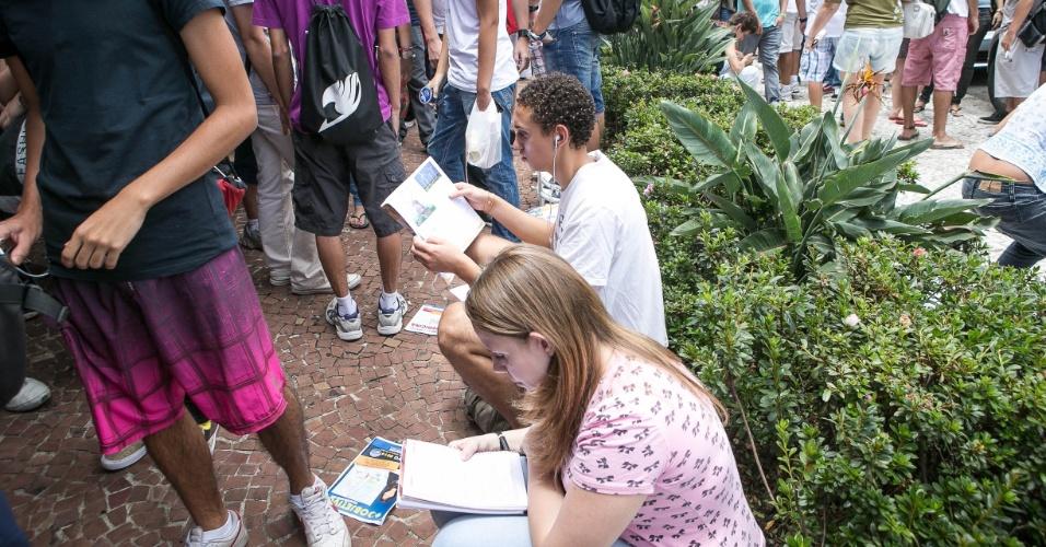 12.jan.2014 - Neste domingo, os estudantes farão prova de língua portuguesa e de literaturas da língua portuguesa e prova de matemática na segunda fase da Unicamp 2014