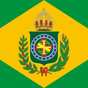 Bandeira do Império do Brasil durante o Primeiro Reinado - Reprodução/EBC