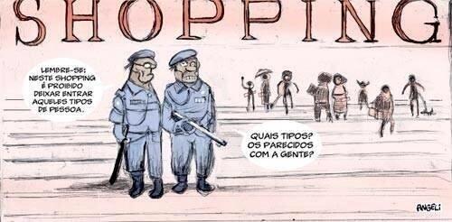 """Ilustração usada na página de evento do """"rolezinho"""" em Brasília no Facebook"""