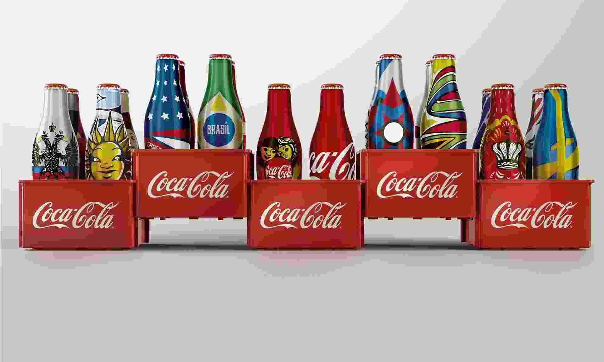 Coca-Cola relança minigarrafinhas para a Copa de 2014 - Divulgação