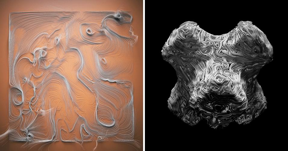 O estúdio alemão utiliza impressoras 3D para fazer as obras de arte das imagens acima. Segundo os artista, algumas obras possuem inspirações em criaturas marinhas. Já outra linha de criações utiliza pedaços de metal, de forma que aparentam estarem derretendo. Os produtos custam em média 80 euros cada (cerca de R$ 257)